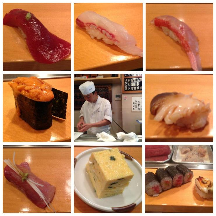 8 course sushi set, waited four hours, ate a living octopus. Worth it.