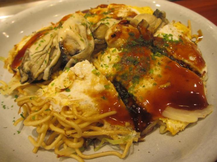 Hiroshima's infamous Okonomiyaki.