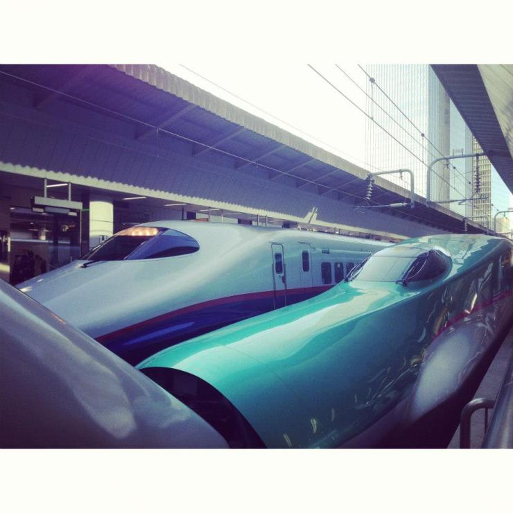 The JR : Shinkansen bullet trains.