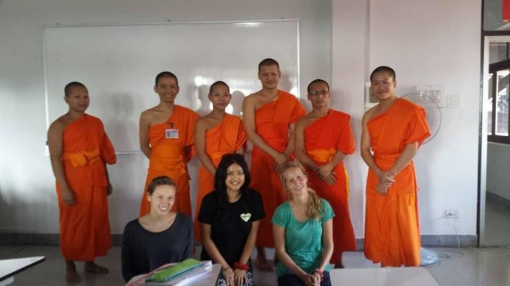 Teaching Buddhist Monks English.